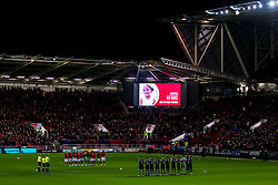 Bristol City and Millwall observe a minutes applause for Amora Afobe daughter of Benik Afobe of Bristol City - Mandatory by-line: Robbie Stephenson/JMP - 10/12/2019 - FOOTBALL - Ashton Gate - Bristol, England - Bristol City v Millwall - Sky Bet Championship
