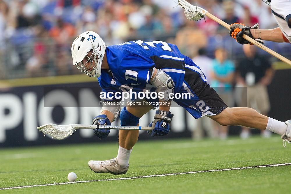 29 May 2010: Duke Blue Devils midfielder Sam Payton (32) in a 14-13 win over the Virginia Cavaliers in the NCAA semifinals at M&T Bank Stadium in Baltimore, MD.