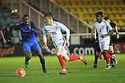 England U18 midfielder Mason Mount (10) goes forward during the U18 International match between England and France at London Road (ABAX Stadium), Peterborough, England on 14 November 2016. Photo by Nigel Cole.