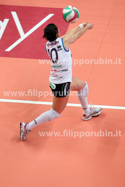 YAMAMAY BUSTO ARSIZIO - MC-CARNAGHI VILLA CORTESE.SEMIFINALE PLAYOFF GARA 4.CAMPIONATO ITALIANO VOLLEY SERIE A1-F 2010-2011 .FOTO FILIPPO RUBIN / LVF
