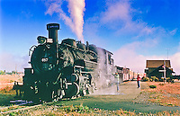 Steam Locomotive # 487 of the Cumbres & Toltec Scenic Railroad.  Antonito, Colorado.