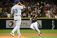 PHOENIX, AZ - MAY 28:  Paul Goldschmidt #44 of the Arizona Diamondbacks runs the bases after hitting a two run home run against the San Diego Padres in the second inning at Chase Field on May 28, 2016 in Phoenix, Arizona.  (Photo by Jennifer Stewart/Getty Images)