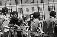 Black Panthers at  Rally to Free Huey Newton at Federal Building in San Francisco California in May 1969