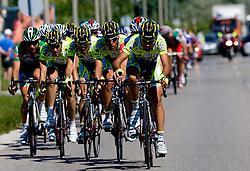 Peloton in Ljubljana leaded by ISD NERI team at 2nd stage of Tour de Slovenie 2009 from Kamnik to Ljubljana, 146 km, on June 19 2009, Slovenia. (Photo by Vid Ponikvar / Sportida)
