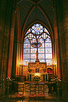 Notre Dame altar church window