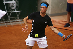 May 21, 2019 - Paris, France - Andrea Arnaboldi during the match between Geoffrey Blancaneaux of FRA vs Andrea Arnaboldi of ITA in the first round qualifications of 2019 Roland Garros, in Paris, France, on May 21, 2019. (Credit Image: © Ibrahim Ezzat/NurPhoto via ZUMA Press)