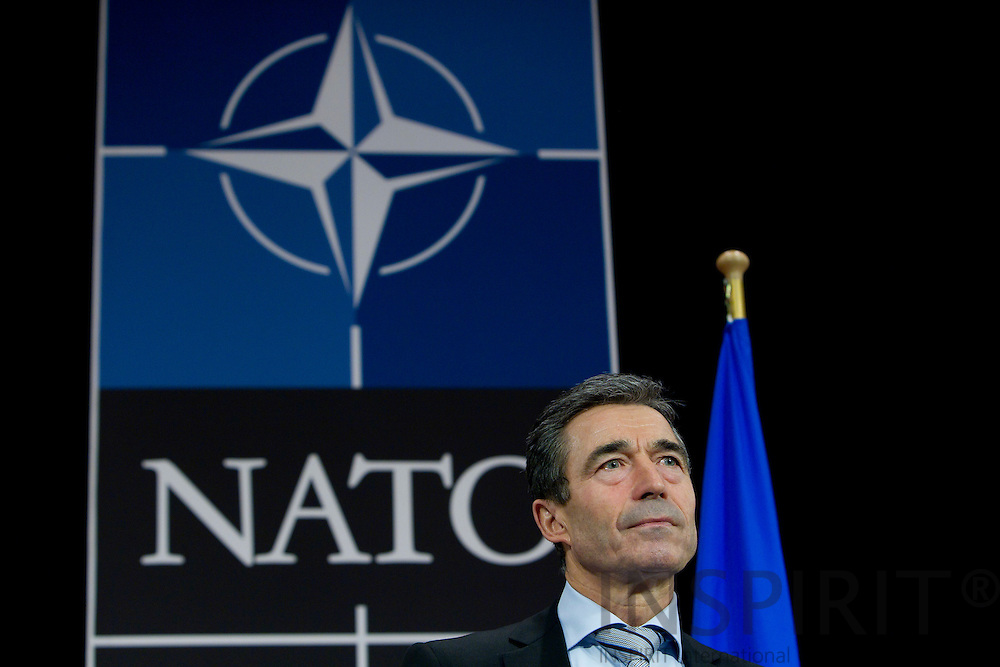 BRUSSELS - BELGIUM - 15 NOVEMBER 2010 -- Anders Fogh Rasmussen the Secretary General for NATO during his press briefing ahead of the NATO-Summit in Lisbon. PHOTO: ERIK LUNTANG / INSPIRIT Photo