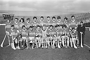 Hurling Kerry v Antrim.Kerry Team.05.03.1972  Hurling match between Kerry and Antrim on 5th March 1972.