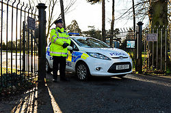 Police guard the scene of a fatal stabbing of a teenager in Chelmsford Essex. December 2014