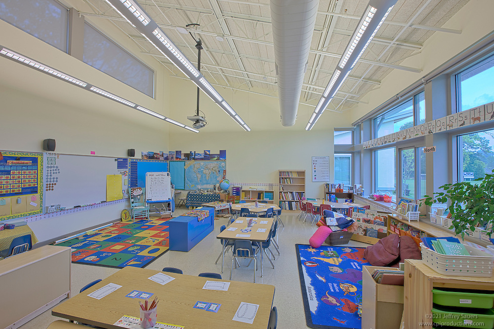 Interior image of the Potomac School Lower School