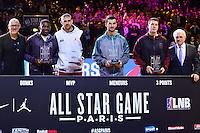 Billy Yakuba OUATTARA - concours de dunks / Adrian MOERMAN - MVP / Leo WESTERMANN - concours de meneurs / Hugo INVERNIZZI - concours de tirs a 3 pts - 03.01.2014 - All Star Game -Paris - Zenith<br />Photo : Dave Winter / Icon Sport
