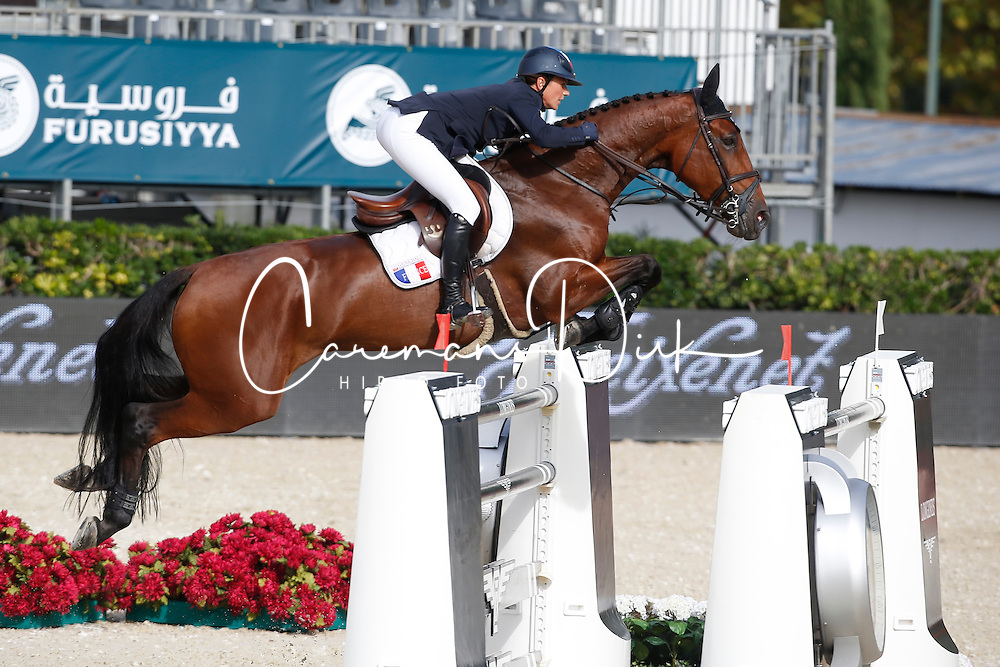 Leprevost Penelope (FRA) - Nayana<br /> Furusiyya FEI Nations Cup Jumping Final Round 1<br /> CSIO Barcelona 2013<br /> © Dirk Caremans