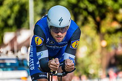 BOONEN Tom from Belgium of Etixx - Quick Step during his race to 103th, stage 2 (ITT) of the 2016 Eneco Tour at Breda, Noord-Brabant, The Netherlands, 20 September 2016. <br /> Photo by Pim Nijland / PelotonPhotos.com | All photos usage must carry mandatory copyright credit (Peloton Photos | Pim Nijland)