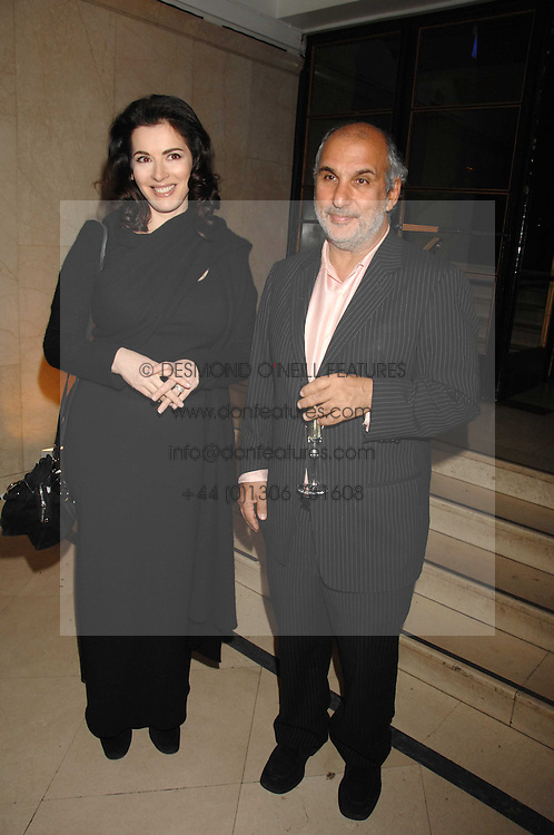 SIR ALAN YENTOB and NIGELLA LAWSON at 'Figures of Speech' a fundraising gala dinner in aid of the ICA held at the Lawrence Hall, Greycoat Street, London on 27th February 2008.<br />