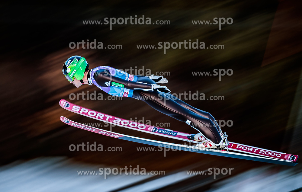 31.12.2017, Olympiaschanze, Garmisch Partenkirchen, GER, FIS Weltcup Ski Sprung, Vierschanzentournee, Garmisch Partenkirchen, Qualifikation, im Bild Jernej Damjan (SLO) // Jernej Damjan of Slovenia during his Qualification Jump for the Four Hills Tournament of FIS Ski Jumping World Cup at the Olympiaschanze in Garmisch Partenkirchen, Germany on 2017/12/31. EXPA Pictures © 2018, PhotoCredit: EXPA/ JFK