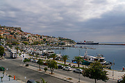 Kavala Harbor pier, East Macedonia, Greece