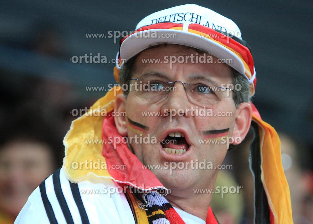 Fan of German team during 21st Men's World Handball Championship preliminary Group C match between FYR Macedonia and Germany, on January 21, 2009, in Arena Varazdin, Varazdin, Croatia. (Photo by Vid Ponikvar / Sportida)