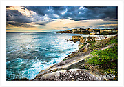 A spectacular view of the Sydney coastline from the Bondi-Coogee coastal walk [Coogee, NSW]<br />