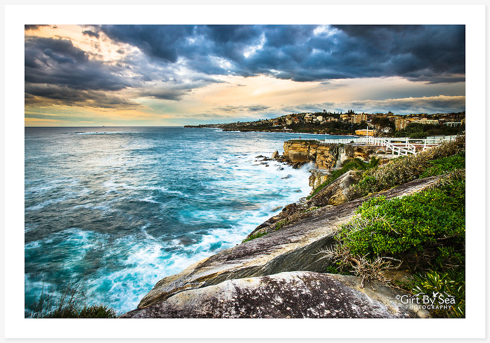 A spectacular view of the Sydney coastline from the Bondi-Coogee coastal walk [Coogee, NSW]<br /> <br /> To purchase please email orders@girtbyseaphotography.com quoting the image number PB207879, and your preferred print size. You will receive a quick reply recommending print media options to best suit your chosen image, plus an obligation-free quotation. Current standard size prices are published on the Pricing page.