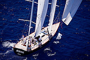 Sojana  sailing during the Caribbean Superyacht Regatta and Rendezvous, race 2.
