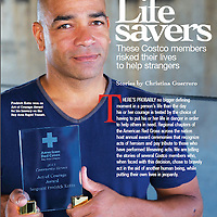 Fredrick Kotto, a former San Jose police officer, was featured in a story about heroes. Photographed for Costco.
