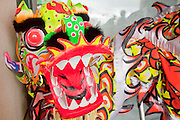 Feb. 8, 2009 -- PHOENIX, AZ: A dragon used in a traditional Dragon Dance at the Chinese Cultural Center in Phoenix, AZ. Chinese around the world celebrated the New Year this month. This is the Year of the Ox in the Chinese calender.  PHOTO BY JACK KURTZ