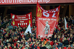 ADELAIDE, AUSTRALIA - Monday, July 20, 2015: Liverpool supporters' banner of Kenny Dalglish before a preseason friendly match against Adelaide United at the Adelaide Oval on day eight of the club's preseason tour. (Pic by David Rawcliffe/Propaganda)