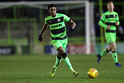 Forest Green Rovers Reece Brown(10) passes the ball forward during the EFL Sky Bet League 2 match between Forest Green Rovers and Grimsby Town FC at the New Lawn, Forest Green, United Kingdom on 22 January 2019.