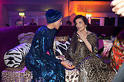 ANA ARAUJO;; BIANCA JAGGER, Dinner and party  to celebrate the launch of the new Cavalli Store at the Battersea Power station. London. 17 September 2011. <br /> <br />  , -DO NOT ARCHIVE-© Copyright Photograph by Dafydd Jones. 248 Clapham Rd. London SW9 0PZ. Tel 0207 820 0771. www.dafjones.com.