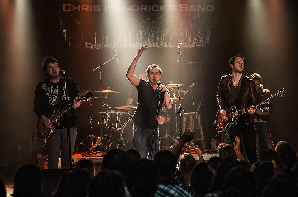 Chris Hendricks with band