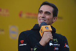 October 28, 2017 - Alberto CONTADOR (SPA) from Trek–Segafredo team, during the 1st TDF Shanghai Criterium 2017 - Media Day..On Saturday, 28 October 2017, in Shanghai, China. (Credit Image: © Artur Widak/NurPhoto via ZUMA Press)