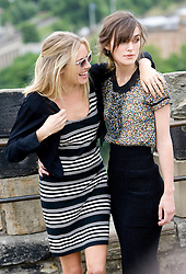 Sienna Miller and Keira Knightley at a photocall at Edinburgh Castle, ahead of the world premiere of 'The Edge Of Love'..©Michael Schofield. All Rights Reserved.