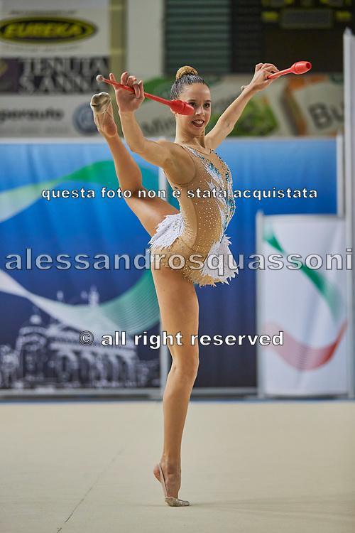 Chiara Ferri from Nervianese team during the Italian Rhythmic Gymnastics Championship in Padova, 25 November 2017.