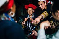 At home with Red Dao women in Ta Phin.