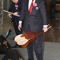MACAU, CHINA - JUNE 01:  Businessmen James Packer smiles after smash a Spanish guitar during the Hard Rock Hotel opening ceremony, as part of the acts of the opening of his and Lawrence Ho's 'City of Dreams' casino on June 1, 2009 in Cotai, Macau. The new 420,000 square foot casino, built on marshland 9km from Macao's traditional casino district but over the road from the world's largest casino 'Sands Venetian Macao', hopes to lure customers to the new casino area. 'City of Dreams' will offer over 500 gambling tables alongside its 3 hotels, a shopping mall and digital fish which swim in an electronic aquarium know as 'The Bubble'.  Photo by Victor Fraile / studioEAST