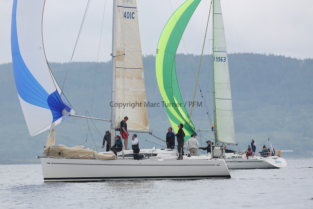 The Silvers Marine Scottish Series 2014, organised by the  Clyde Cruising Club,  celebrates it's 40th anniversary.<br /> 3401C, Rogue Trader, James Cumming, FYC, Elan 340<br /> Final day racing on Loch Fyne from 23rd-26th May 2014<br /> <br /> Credit : Marc Turner / PFM