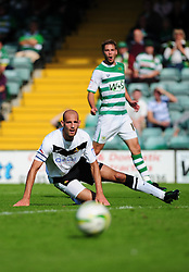 Doncaster Rovers' Rob Jones watches as Yeovil Town's Sam Foley shot goes wide - Photo mandatory by-line: Dougie Allward/Josephmeredith.com  - Tel: Mobile:07966 386802 01/09/2012 - SPORT - FOOTBALL - League 1 -  Yeovil  - Huish Park -  Yeovil Town v Doncaster Rovers
