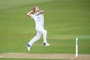 Gareth Berg of Hampshire bowling during the Specsavers County Champ Div 1 match between Hampshire County Cricket Club and Middlesex County Cricket Club at the Ageas Bowl, Southampton, United Kingdom on 14 April 2017. Photo by David Vokes.