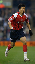 WEST BROMWICH, ENGLAND - Saturday, December 15, 2007: Charlton's Zheng Zhi in action against West Bromwich Albion during the League Championship match at the Hawthorns. (Photo by David Rawcliffe/Propaganda)
