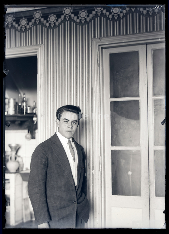 young adult man casual posing France circa 1930s