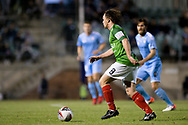 SYDNEY, AUSTRALIA - AUGUST 21: Marconi Stallions player Connor Evans (8) controls the ball during the FFA Cup round of 16 soccer match between Marconi Stallions FC and Melbourne City FC on August 21, 2019 at Marconi Stadium in Sydney, Australia. (Photo by Speed Media/Icon Sportswire)