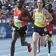 WILLIS, NICK - DRAKE RELAYS, 2013 - New Zealand's Nick Willis, followed Kenya's Boaz Lalang during the special mile.  Willis kicked home to win easily in 3:55.70. photo by David Peterson