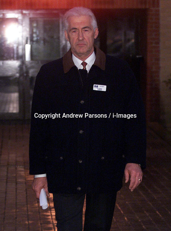 The Governor Clive Morris at Littlehey Prison, Cambridgeshire where Steven Downing is being held, 2000, November 4, 2000. Photo by Andrew Parsons / i-Images..