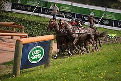 Glenn Geerts, (BEL), Antonio, Ozora Rangos, Red, Scampolo 49, Watapatja - Driving Marathon - Alltech FEI World Equestrian Games™ 2014 - Normandy, France.<br /> © Hippo Foto Team - Dirk Caremans<br /> 06/09/14