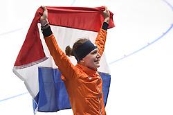 12-02-2018 SCHAATSEN: OLYMPISCHE SPELEN: OLYMPIC GAMES: PYEONGCHANG 2018<br /> Met tranen in haar ogen staat zij voor haar supporters<br /> <br /> Foto: Soenar Chamid