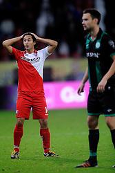 26-10-2012 VOETBAL: FC UTRECHT - FC GRONINGEN: UTRECHT<br /> Utrecht wint met 1-0 van Groningen / Mark van der Maarel<br /> ©2012-FotoHoogendoorn.nl