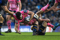 December 16, 2017 - Dublin, Ireland - Don Armand of Exeter in action challenged by Leinsterplayers during Leinster vs Exeter Chiefs - the  European Rugby Champions Cup rugby match at Aviva Stadium...On Saturday, 16 December 2017, in Dublin, Ireland. (Credit Image: © Artur Widak/NurPhoto via ZUMA Press)