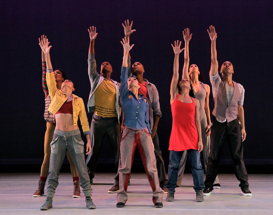 Matthew Rushing & Company in HOME.Choreography by Rennie Harris .Alvin Ailey American Dance Theater.Credit Photo: Paul Kolnik.studio@paulkolnik.com.nyc 212-362-7778..