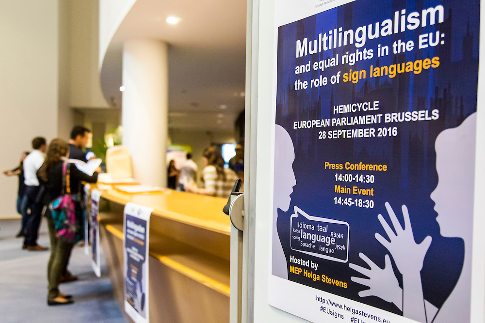 Event ' Multilingualism and equal rights in the EU: the role of sign languages '