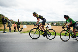 Lucy Kennedy (AUS) leads up the categorised climb at Ladies Tour of Norway 2018 Stage 1, a 127.7 km road race from Rakkestad to Mysen, Norway on August 17, 2018. Photo by Sean Robinson/velofocus.com